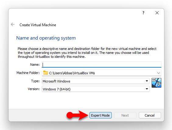 Install Windows 11 on VirtualBox