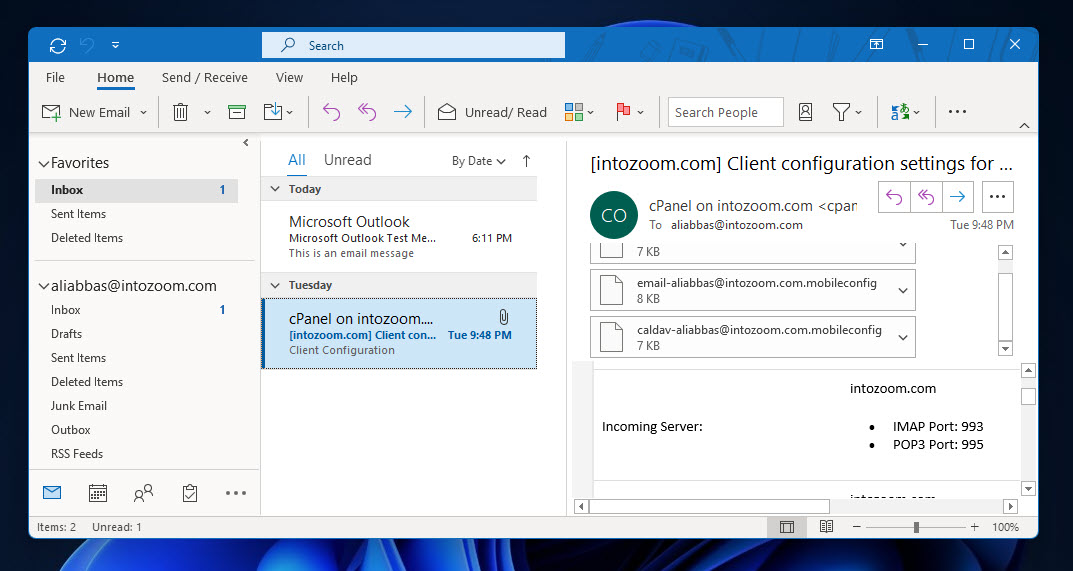 Setup your Work Email with Outlook