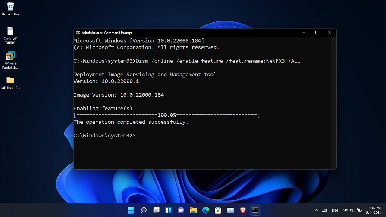 Install .Net framework on Windows machine without internet connection