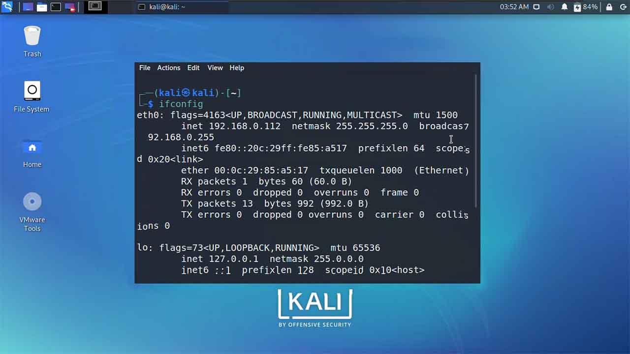 Set Static IP Address in Kali Linux